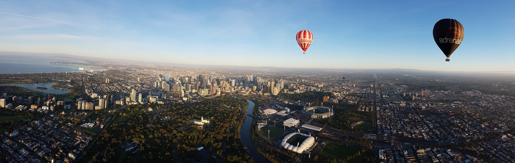 How else can you get a balloon's and duck's eye view of Melbourne?