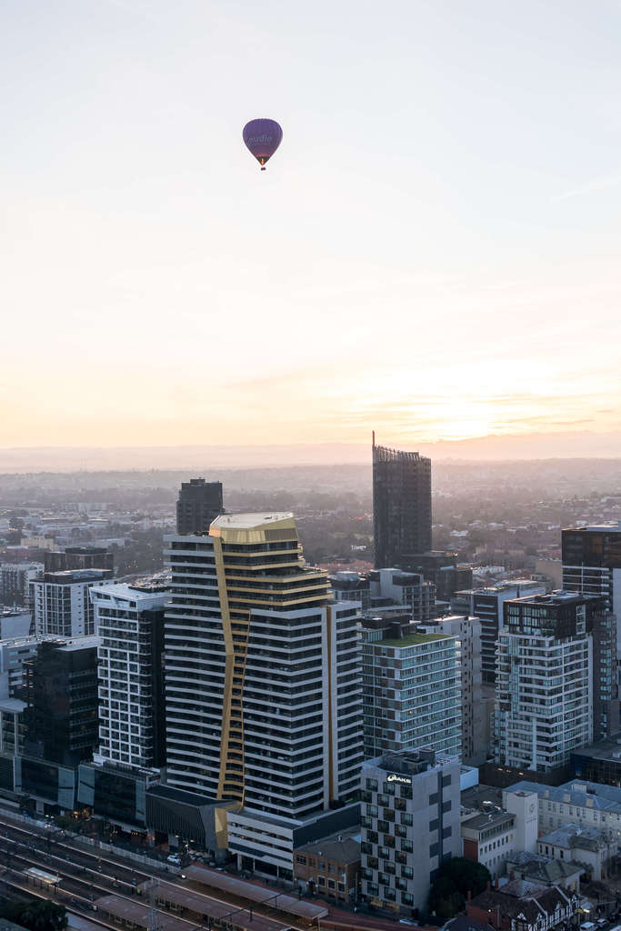 Sunrise in Melbourne from a Hot Air Balloon