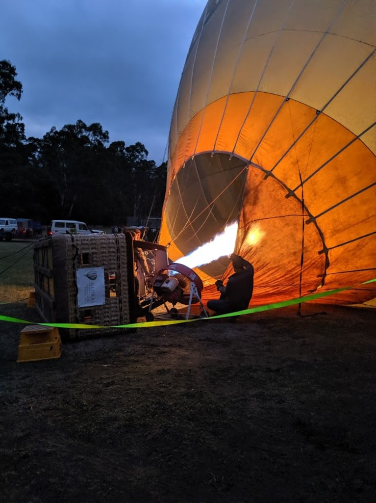 "Hot air ballooning was ""One of the best days of our lives"""