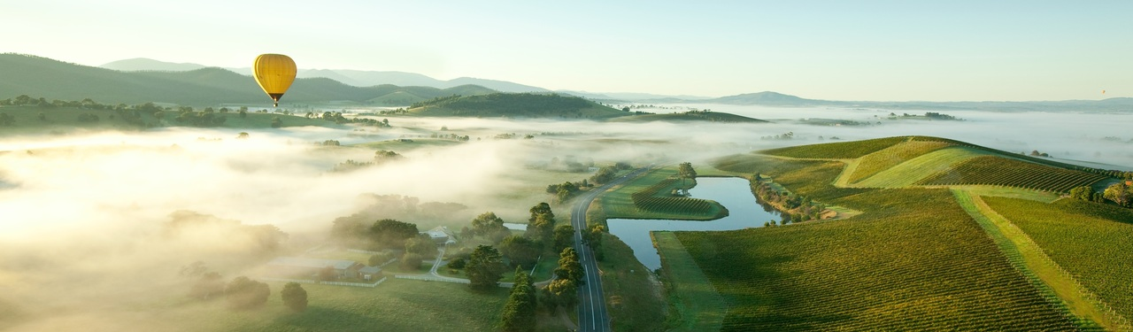 Fly over Yarra Valley