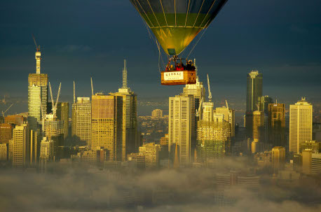 Basket over Melbourne